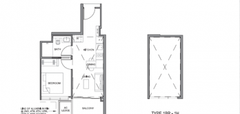 parc clematis 1-bedroom floor plan