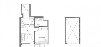 parc clematis 1-bedroom layout