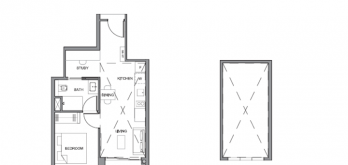 parc clematis condo 1-bedroom floorplan
