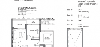 parc clematis at clementi, 2-bedroom floor plan