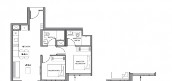 parc clematis 2-bedroom layout