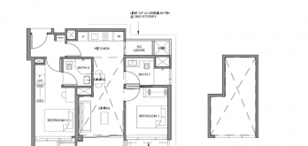 parc clematis 2-bedroom dual key layout