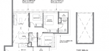 parc clematis 3-bedroom floor plan