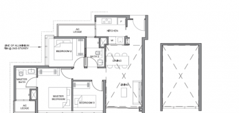 parc clematis layout for 3-bedroom