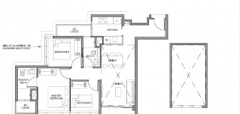 parc clematis floor plan 3-bedroom 3