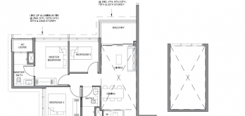 parc clematis floor plan for 3-bedroom