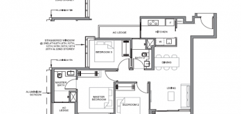 parc clematis condo floor plan 3-bedroom