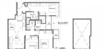 parc clematis layout for 3-bedroom dual key