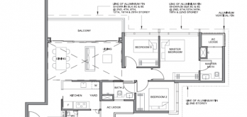 parc clematis floorplan for 3-bedroom