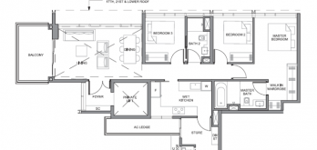 parc clematis floorplan for 3-bedroom signature