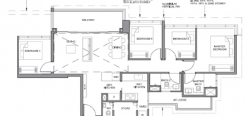parc clematis 4-bedroom floor plan