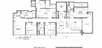 parc clematis floorplan 4-bedroom p3