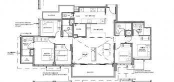 parc clematis 5-bedroom floor plan