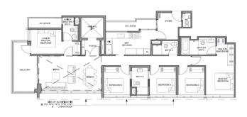 parc clematis floor plan for 5-bedroom p2