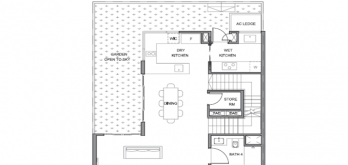 parc clematis floor plan layout corner terrace