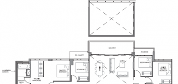 parc clematis floorplan for 5-bedroom penthouse 2