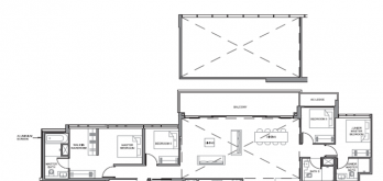 parc clematis 5-bedroom penthouse floor layout